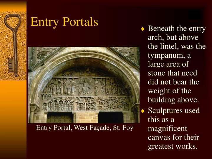 Entry Portal, West Façade, St. Foy