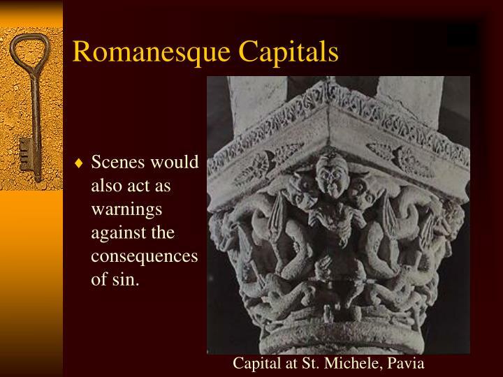 Capital at St. Michele, Pavia