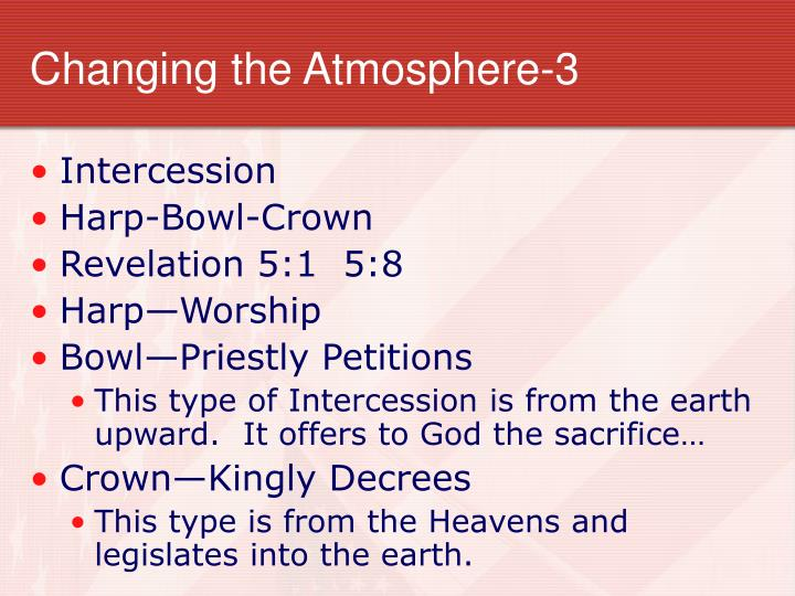 Changing the Atmosphere-3