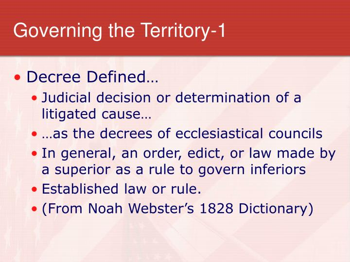 Governing the Territory-1