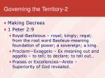 governing the territory 2