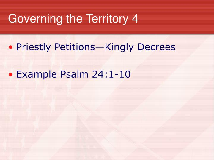 Governing the Territory 4