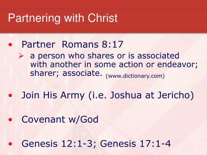 Partnering with Christ