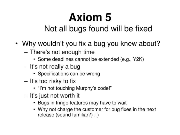 Axiom 5