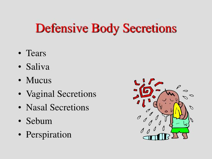 Defensive Body Secretions