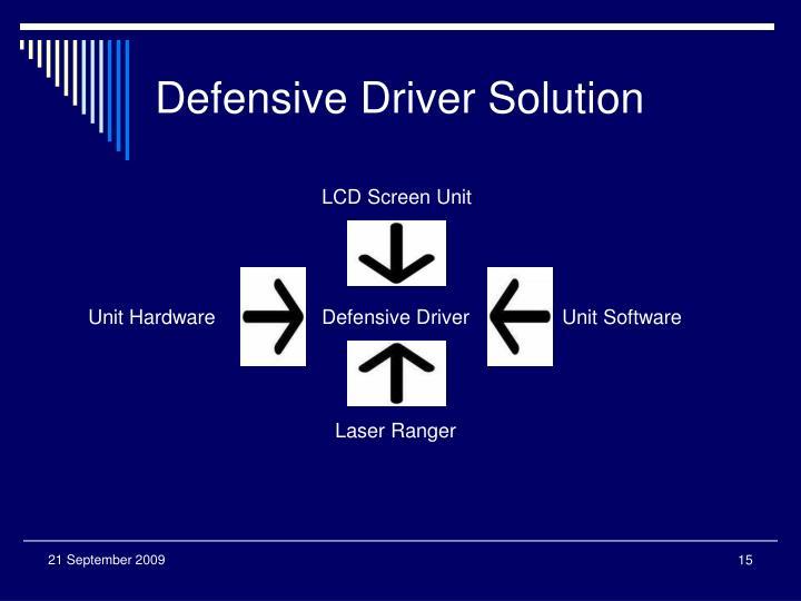 Defensive Driver Solution