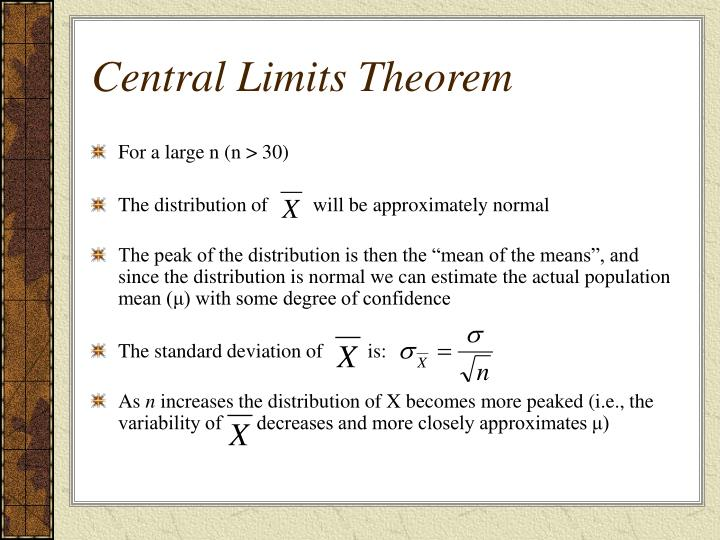 Central Limits Theorem