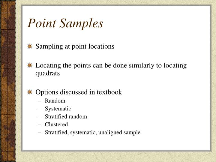 Point Samples
