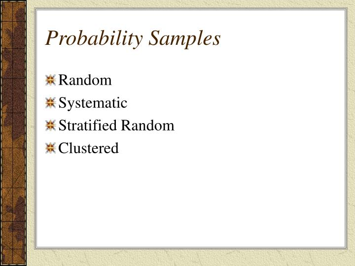 Probability Samples