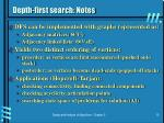 depth first search notes