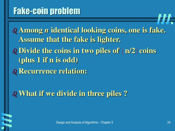 Fake-coin problem