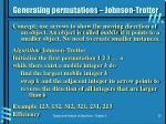 generating permutations johnson trotter