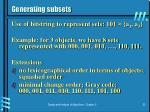 generating subsets1