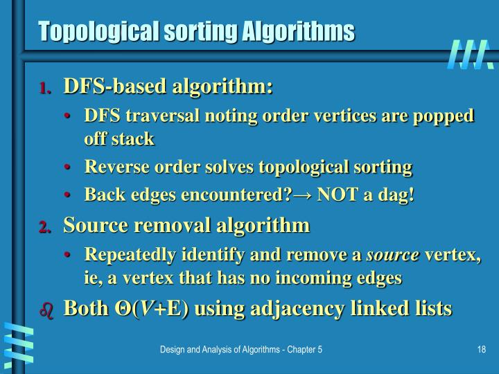 Topological sorting Algorithms