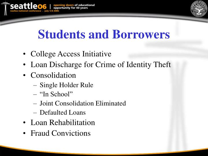 Students and Borrowers