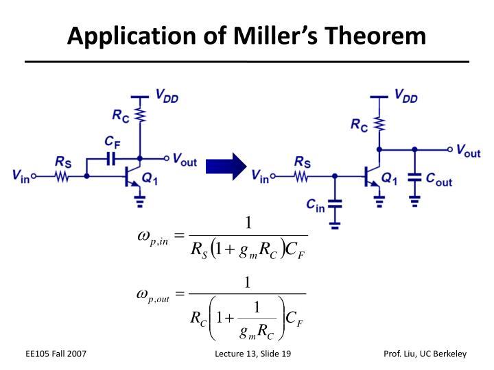 Application of Miller's Theorem