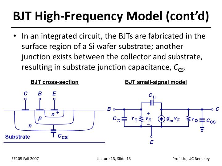 BJT High-Frequency Model (cont'd)