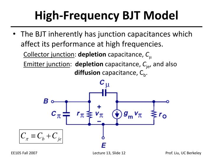 High-Frequency BJT Model