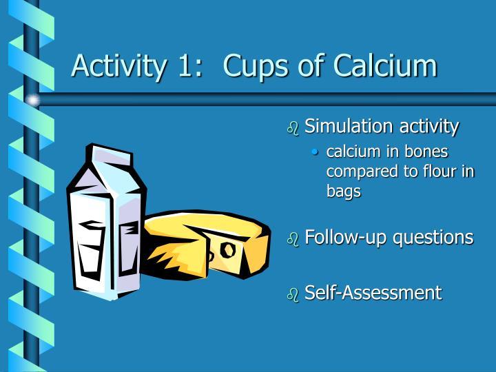 Activity 1:  Cups of Calcium