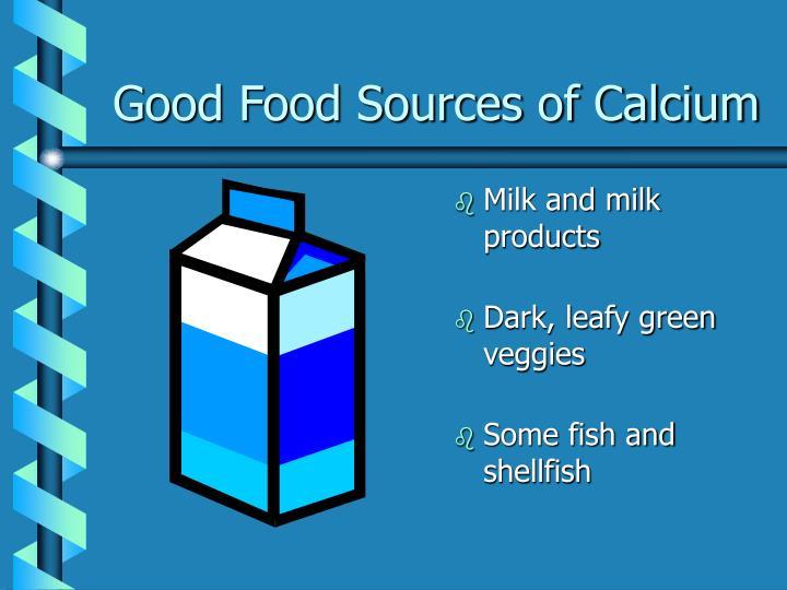 Good Food Sources of Calcium