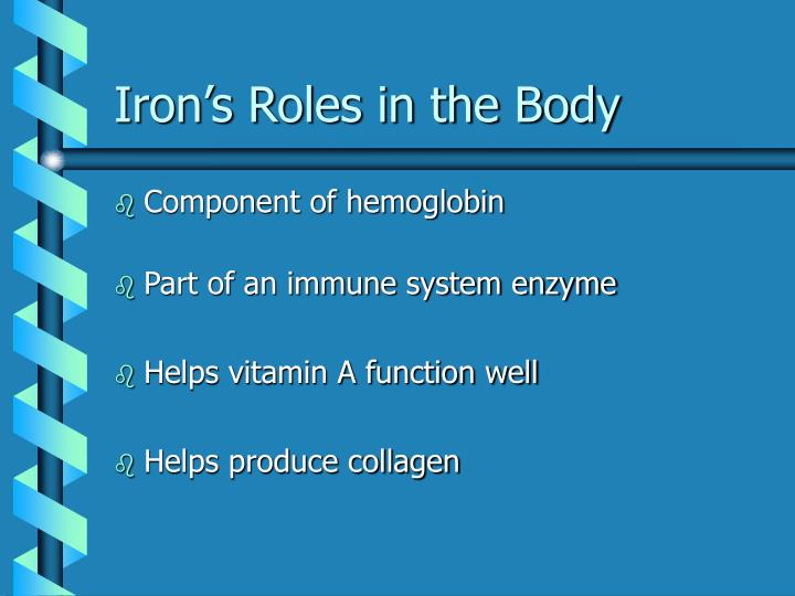Iron's Roles in the Body