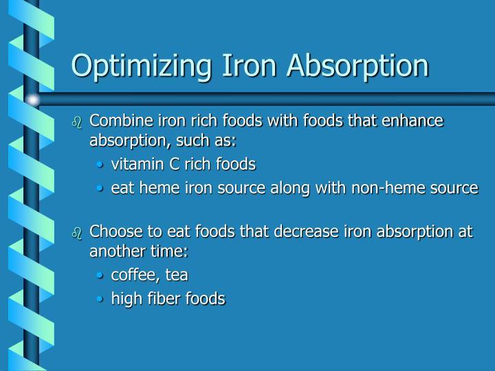 Optimizing Iron Absorption