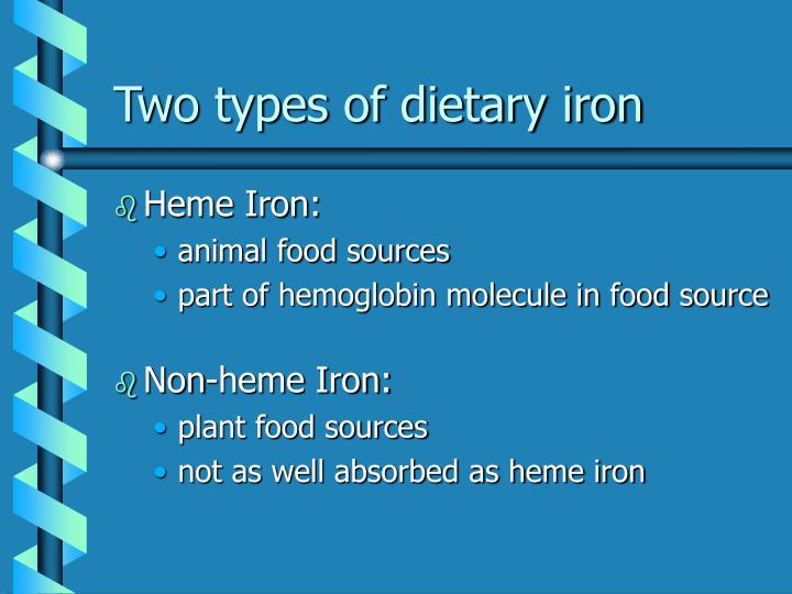 Two types of dietary iron