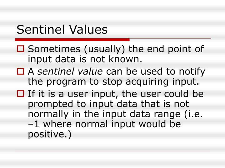 Sentinel Values