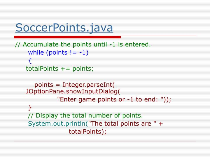 SoccerPoints.java