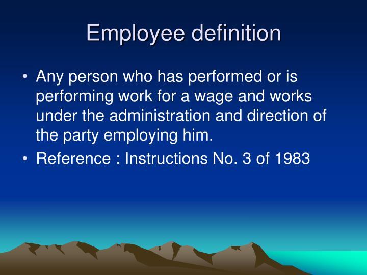 Employee definition