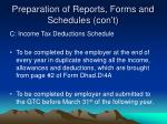 preparation of reports forms and schedules con t4