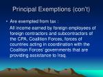 principal exemptions con t
