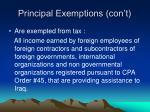 principal exemptions con t1