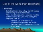 use of the work chart brochure