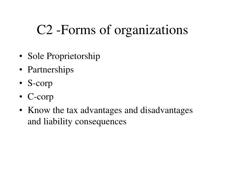 C2 -Forms of organizations