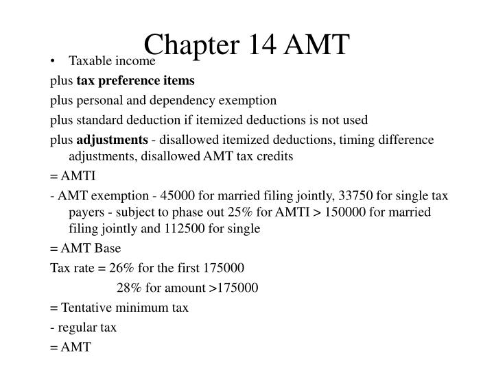 Chapter 14 AMT