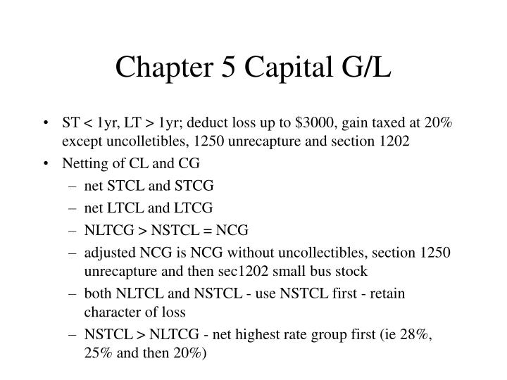 Chapter 5 Capital G/L