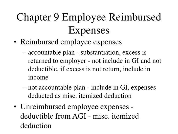 Chapter 9 Employee Reimbursed Expenses