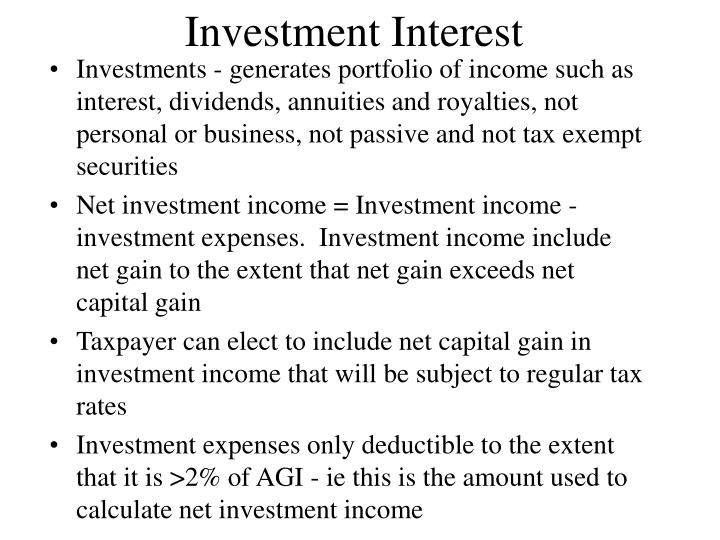 Investment Interest