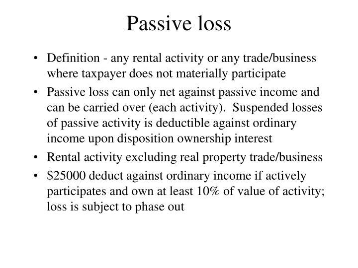 Passive loss