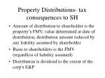 property distributions tax consequences to sh