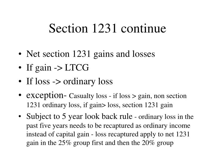 Section 1231 continue