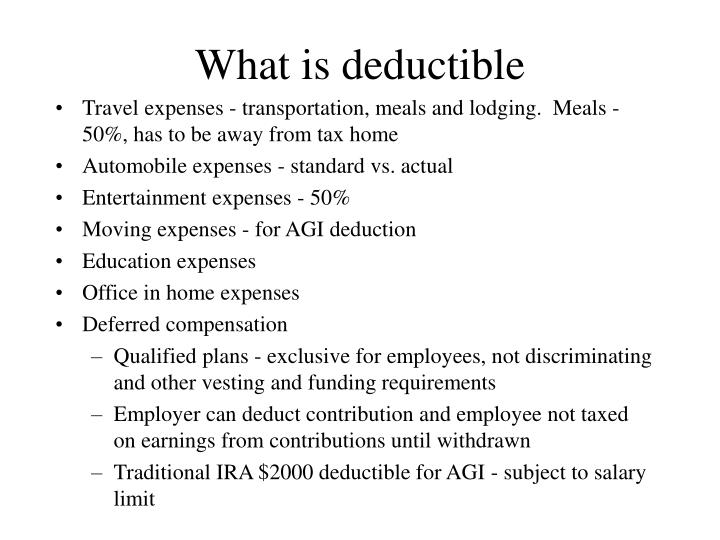 What is deductible