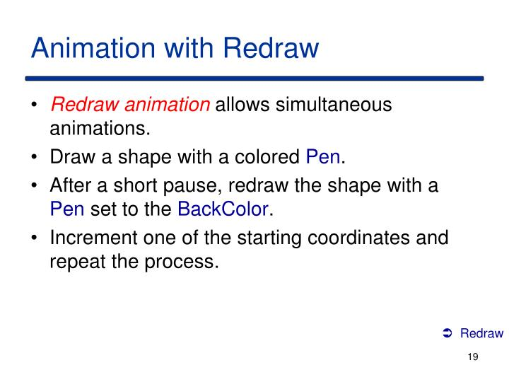 Animation with Redraw