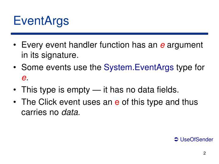 EventArgs