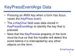 keypresseventargs data