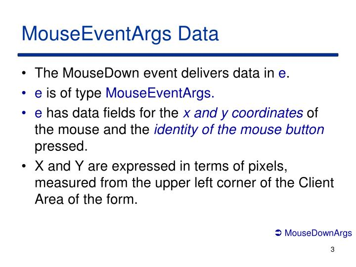 MouseEventArgs Data