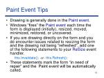 paint event tips