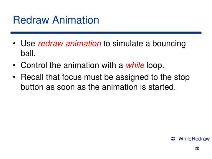 Redraw Animation