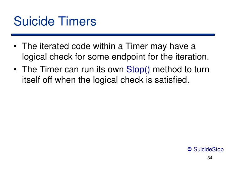 Suicide Timers